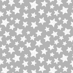 white stars on gray background