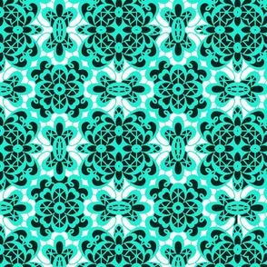 old lace mint blue