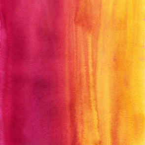 Watercolor Wash Magenta Yellow