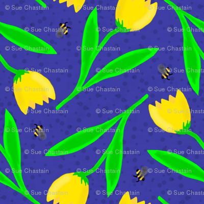 Tulip and Bees Doodle