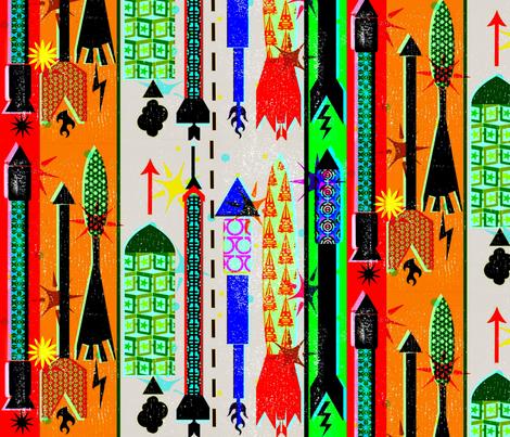 Rubber Stamp Hawaiian Fireworks &c. fabric by boris_thumbkin on Spoonflower - custom fabric