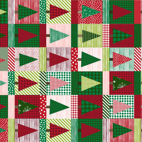 christmas tree block quilt cute christmas cheater quilt fabric xmas holiday railroad