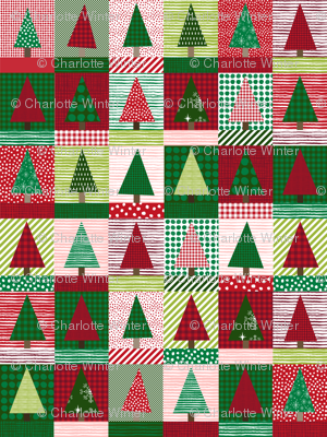 christmas tree block quilt cute christmas cheater quilt fabric xmas holiday