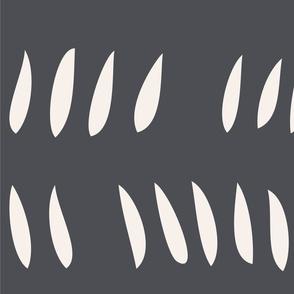 Hash Row Cutouts . Slate