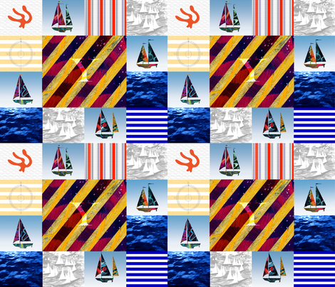 Y signal Flag Quilt Top fabric by barbarapritchard on Spoonflower - custom fabric