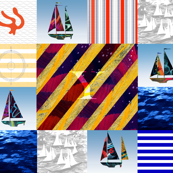 Y signal Flag Quilt Top