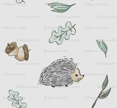 Hedgehog Snuggles - Gray
