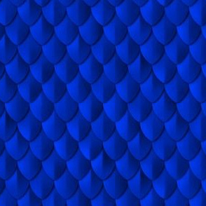 Plain Scale Armor Cobalt Blue