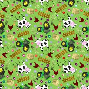 Small Farmyard Cow Solid BG