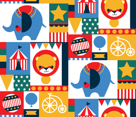 Patchwork_Circus fabric by jessica_phillips on Spoonflower - custom fabric