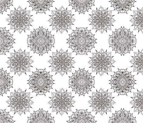 Kaleidoscope  fabric by addie_d on Spoonflower - custom fabric