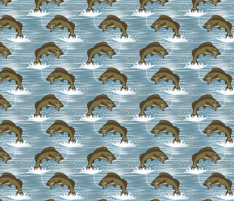 Bass Fishing fabric by chiral on Spoonflower - custom fabric