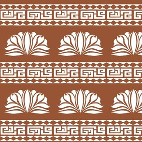 LOTUS STRIPE BROWN