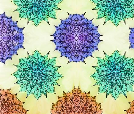Watercolor Kaleidoscope fabric by addie_d on Spoonflower - custom fabric