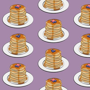 pancakes w/ berries on purple