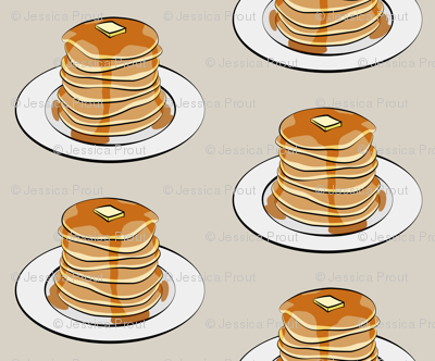 pancakes on beige