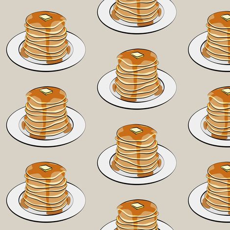 pancakes on beige fabric by littlearrowdesign on Spoonflower - custom fabric