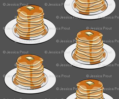 pancakes on grey
