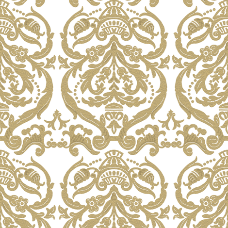 Ouise in gold fabric by lilyoake on Spoonflower - custom fabric