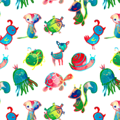 Colorful little characters