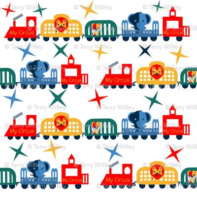 Retro Circus Train Welcome