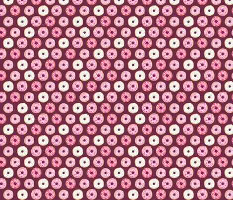 Iced_donuts_pink_on_burgundy_5_inch_150_hazel_fisher_creations_shop_preview
