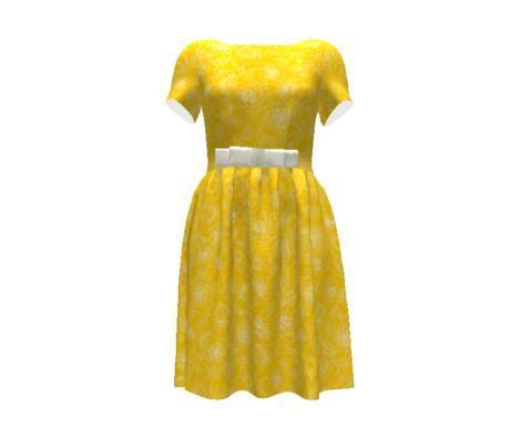 Marigolds_white on yellow