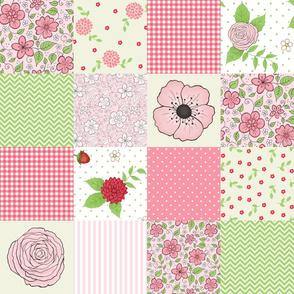 Summer Garden cheater quilt