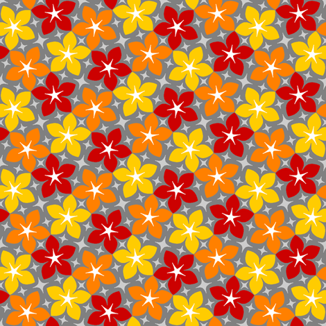 06533942 : S43 floral : hot and fiery fabric by sef on Spoonflower - custom fabric