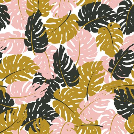 Tropical leaves fabric by alenkakarabanova on Spoonflower - custom fabric