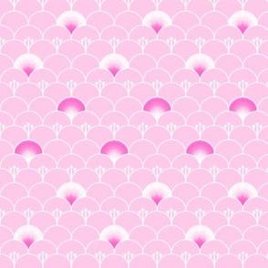 Fantasy garden in pink