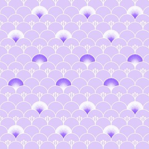 Fantasy garden in purple