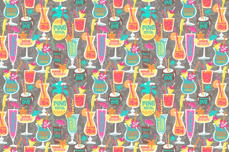 Harry's Happy Hour No3 medium fabric by bzbdesigner on Spoonflower - custom fabric
