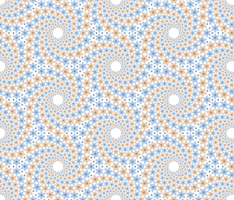 06534506 : mandala 12~ : natural pastels fabric by sef on Spoonflower - custom fabric