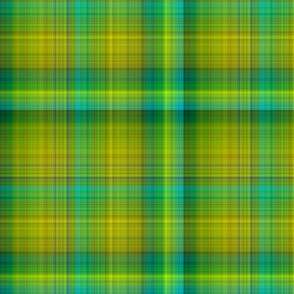 GREEN SPRING GRASS large PLAID TARTAN