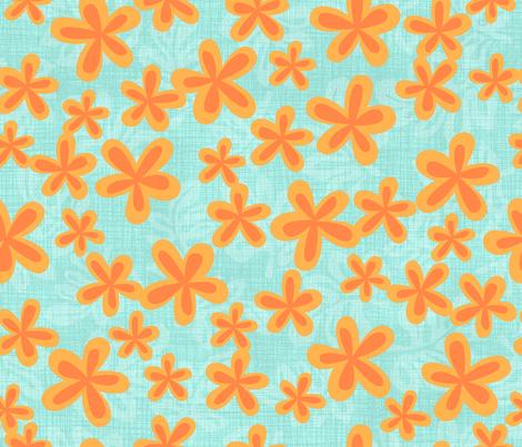 Harrys_Orange_flowers fabric by bzbdesigner on Spoonflower - custom fabric