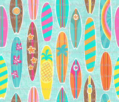 Harrys Surfboards Aqua