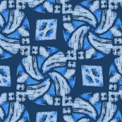 Abstract Woven Knot Powder Sky and Slate Blue