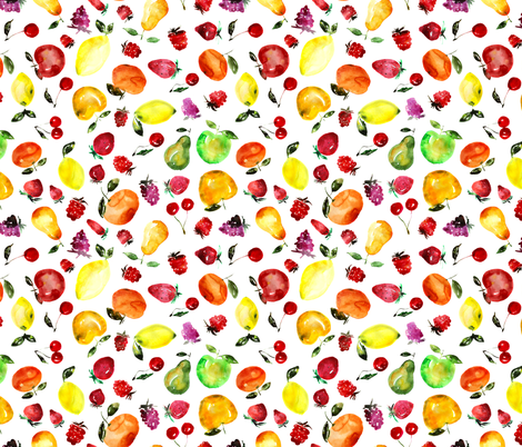 Tutti frutti watercolor fabric by katerinaizotova on Spoonflower - custom fabric