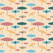 Retro parasol - at the beach