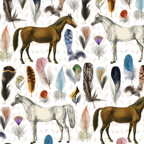 Horse Feathers White