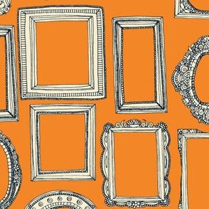 picture frames indigo tangerine