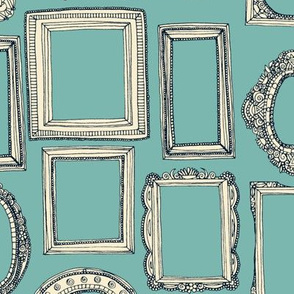 picture frames indigo duck egg blue