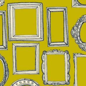 picture frames indigo chartreuse