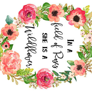 "54""x36"" Floral Dreams / Wildflower Quote Wreath"