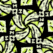 Abstract Woven Knot Lime and Black