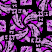 Abstract Woven Knot Purple