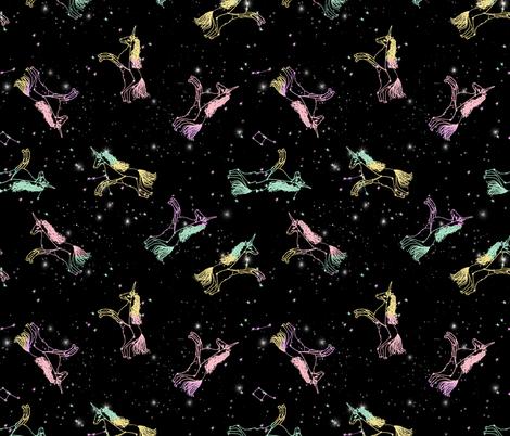 unicorn constellations fabric // galaxy pastel unicorn fabric trendy unicorn design constellation stars unicorns cosmic design pastel fabric by andrea_lauren on Spoonflower - custom fabric