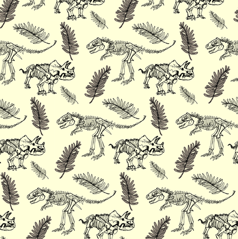Tri-Rex fabric by paper_reaper on Spoonflower - custom fabric