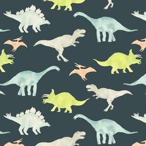 Dinos on blue